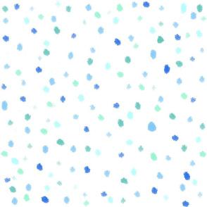 Polka Dots Blue Sail Regatta blue white