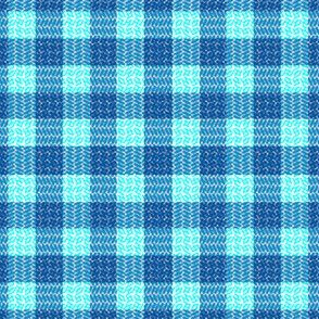 Herringbone Plaid Blue and teal Blue Sail Regatta