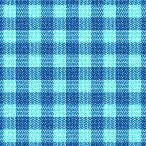 Herringbone Plaid Blue and teal Blue Sail Regatta