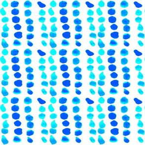 Dots Blue and Turquoise Blue Sail Regatta