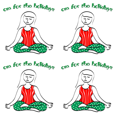Yoga Gal Om for the Holidays fabric by lesrubadesigns on Spoonflower - custom fabric