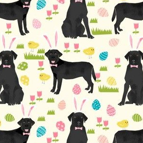 black lab fabric labrador retriever easter pastel fabric cute dog design - cream