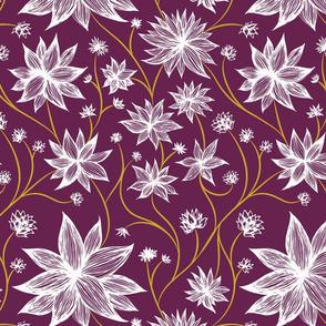 Bold Purple Wildflowers