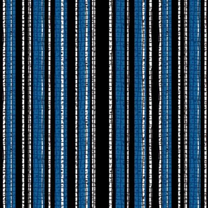 Textured Blue and Black Candy Stripe