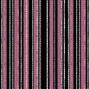 Textured Pink and Black Candy Stripe