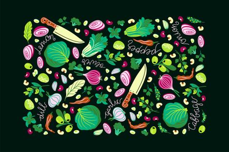 Farm lunch fabric by alenkakarabanova on Spoonflower - custom fabric