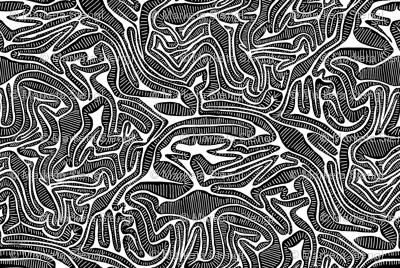 Black Tribal Labyrinth