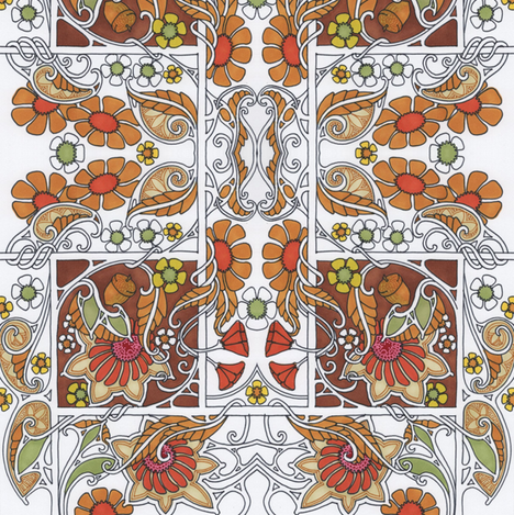 Waiting For Thanksgiving  fabric by edsel2084 on Spoonflower - custom fabric