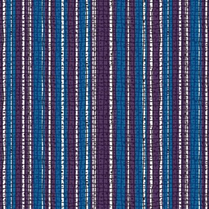 Textured Blue and Purple Candy Stripe