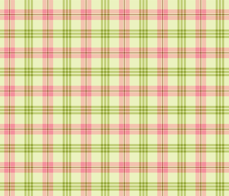 Pink and Green Plaid - Christmas Cactus Collection fabric by northern_whimsy on Spoonflower - custom fabric