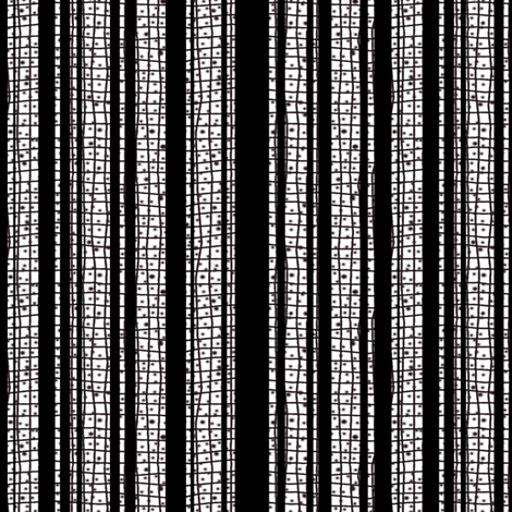 Textured Black and White Candy Stripe fabric by eclectic_house on Spoonflower - custom fabric