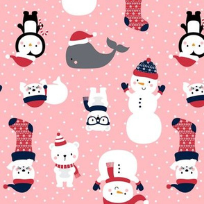 snow cuties on pink :: cheeky christmas