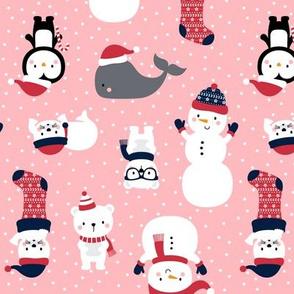 snow cuties pink :: cheeky christmas