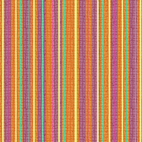 Textured Tropical Fruit Candy Stripe fabric by eclectic_house on Spoonflower - custom fabric