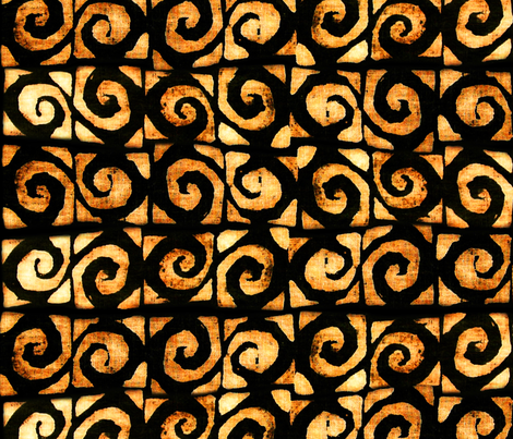 Koru Black Gold 150 fabric by kadyson on Spoonflower - custom fabric