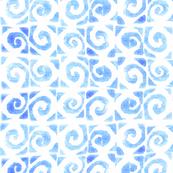 Koru Light Blue On White 150