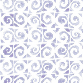 Koru Lilac Gray On White 150