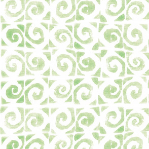 Koru Fern Green On White 150