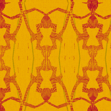 Golden Chain (Yellow) fabric by david_kent_collections on Spoonflower - custom fabric