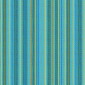 Textured Mostly Aqua Candy Stripe