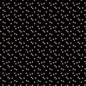 gold glitter scattered polka dots