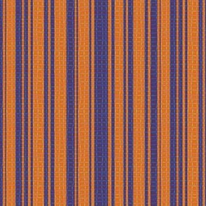 Textured Orange and Purple Halloween Stripe