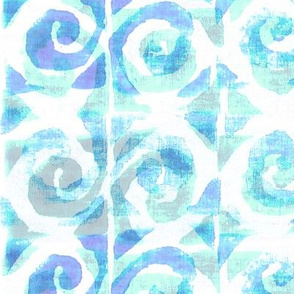 Koru Opal Blue on White 150