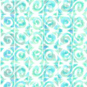 Koru Turquoise on White 150