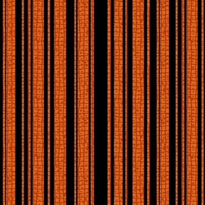 Textured Orange and Black Halloween Stripe 1