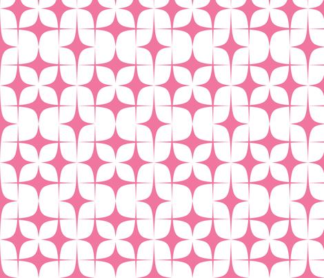 Pink Diamond Starbursts fabric by lesrubadesigns on Spoonflower - custom fabric