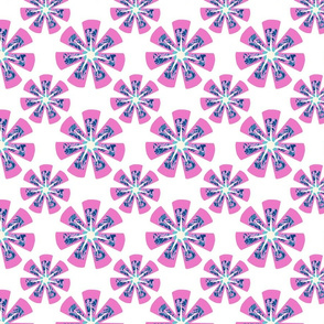 Pink Kaleidoscope Geometric Flower