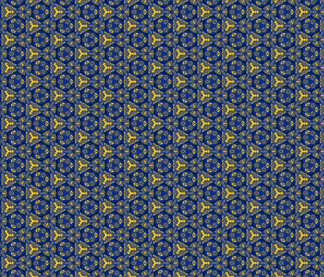 blue and golden print fabric by sewingfever on Spoonflower - custom fabric