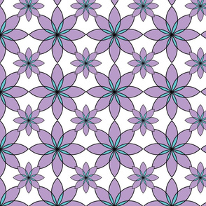 Purple and Teal Spiral Flower