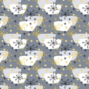 groovy snowflakes and soup bowls