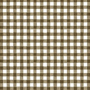 Brown Watercolor Gingham