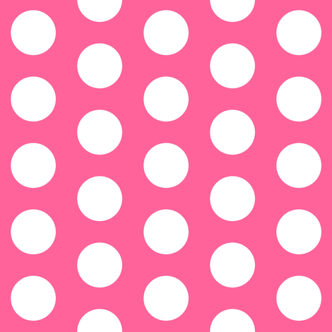 Large Pink Polka Dots fabric by thepinkhome on Spoonflower - custom fabric