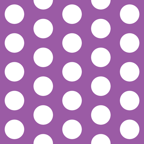 Large Purple Polka Dots fabric by thepinkhome on Spoonflower - custom fabric