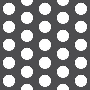 Large Charcoal Polka Dots