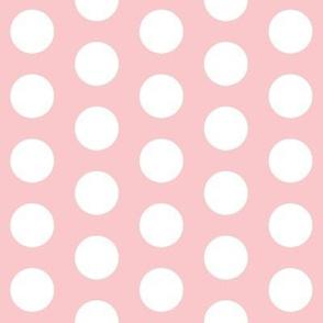 Large Light Pink Polka Dots