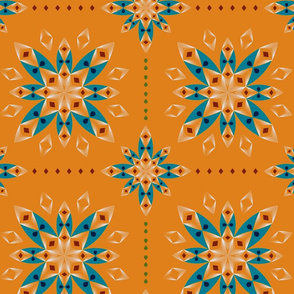 Flower Bandana - Orange
