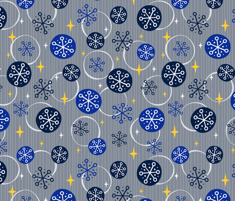 Snowfall at Dusk fabric by robyriker on Spoonflower - custom fabric