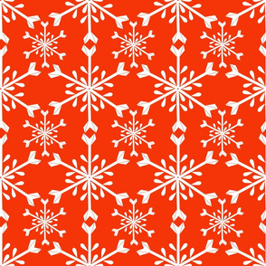 Snowflakes Red and White