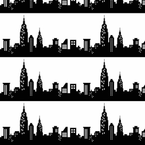 NYC Skyline black & white