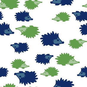 hedgehogs blue green