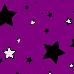 Stars black grey purple