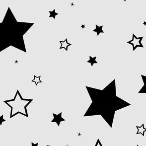 Stars black grey