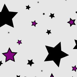 Stars black purple grey