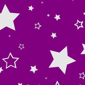 Stars grey purple