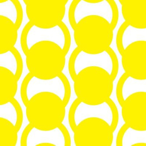 Circle Rings in bright yellow on white