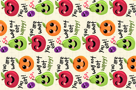 Happy Fruit  fabric by franbail on Spoonflower - custom fabric